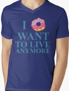 i donut want to live anymore Mens V-Neck T-Shirt