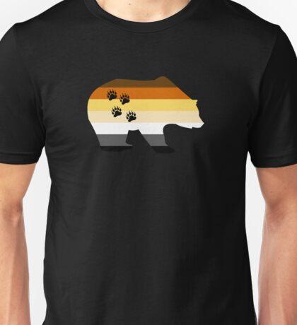 Gay Bear paw rainbow colours Unisex T-Shirt