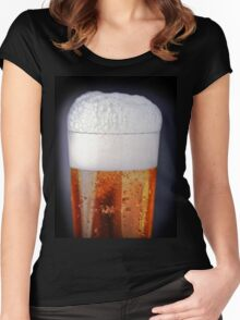 Full glass of cold beer Women's Fitted Scoop T-Shirt