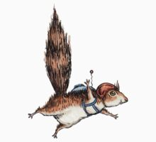 Skydiver Squirrel Kids Tee