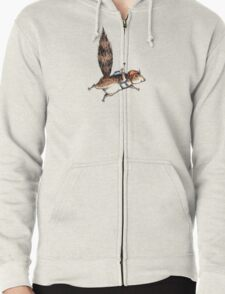 Skydiver Squirrel Zipped Hoodie