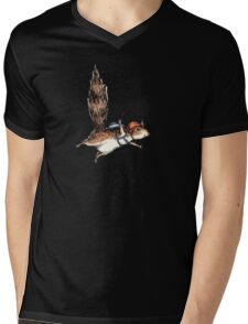 Skydiver Squirrel Mens V-Neck T-Shirt