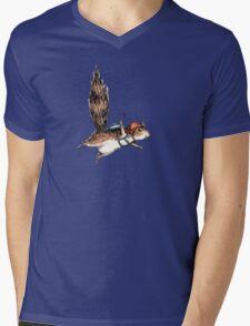 Skydiver Squirrel Mens V-Neck T-Shirt