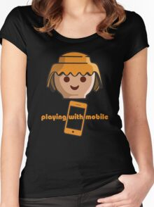 Playing With Mobile Women's Fitted Scoop T-Shirt