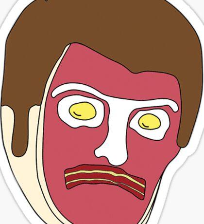 Ron Swanson T-Bone Sticker