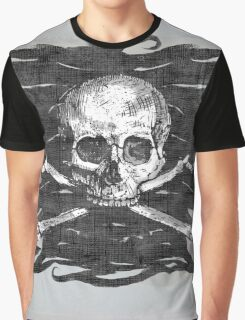 Old Crossbones Skull Pirate Flag Graphic T-Shirt