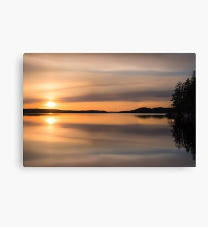 Mirror (nice and peaceful evening on the lake) Canvas Print