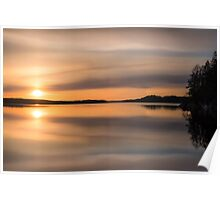 Mirror (nice and peaceful evening on the lake) Poster