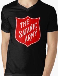 Satanic Army Salvo Shield Mens V-Neck T-Shirt