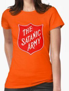 Satanic Army Salvo Shield Womens Fitted T-Shirt
