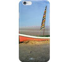 Boat in a salt lake iPhone Case/Skin