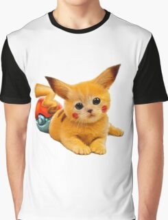 Pikachu the Kitty Graphic T-Shirt