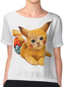 Pikachu the Kitty Chiffon Top