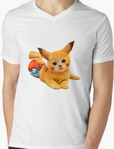 Pikachu the Kitty Mens V-Neck T-Shirt
