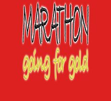 RUN, JOG, MARATHON, Going for gold, 26 miles, 42 kilometres, running, jog, jogging, Red Unisex T-Shirt