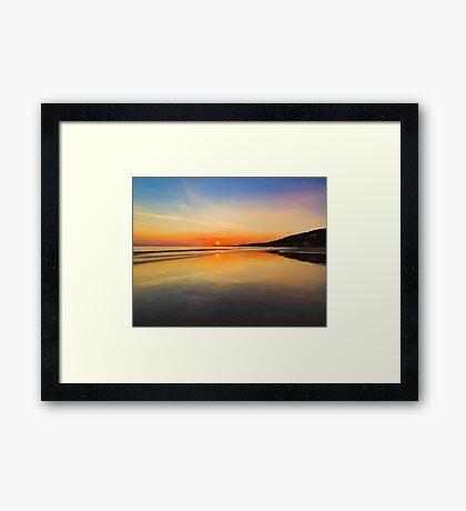 Dawn colours Framed Print