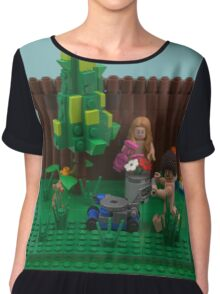 World Naked Gardening Day  Chiffon Top