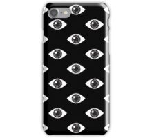 Eyes Wide Open - on Black iPhone Case/Skin