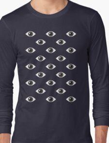 Eyes Wide Open - on Black Long Sleeve T-Shirt