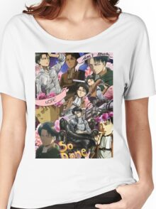 Levi Ackerman Collage Women's Relaxed Fit T-Shirt