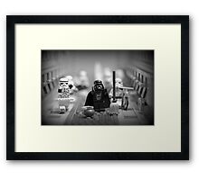 Lord Vader Clean Up In Aisle Six Framed Print