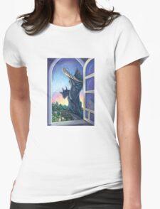 Gargoyle Guardian Womens Fitted T-Shirt