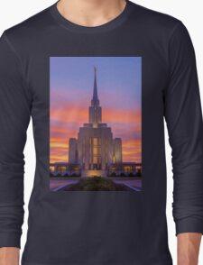 Oquirrh Mountain Temple III Long Sleeve T-Shirt
