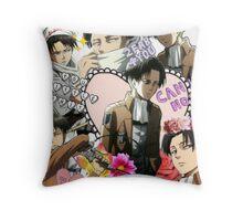 Levi Ackerman Collage Throw Pillow