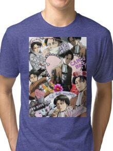 Levi Ackerman Collage Tri-blend T-Shirt