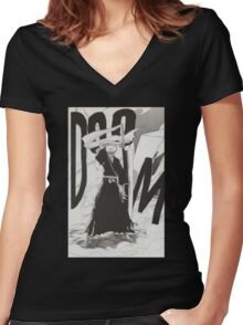 Bleach - Ichigo Kurosaki Women's Fitted V-Neck T-Shirt
