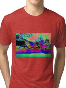 photographic experimental psychedelic smoothness Tri-blend T-Shirt
