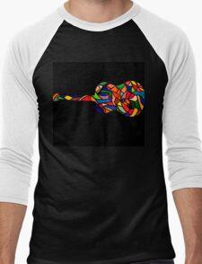 Vintage Coloured Classic Guitar Men's Baseball ¾ T-Shirt