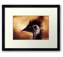 bird, punk Framed Print