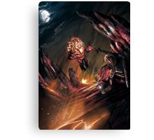 Attack of the Elemental Beast Canvas Print