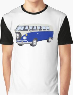 Volkswagen Van, VW Bus, Navy Blue, Camper, Split screen, 1966 Volkswagen, Kombi (North America) Graphic T-Shirt