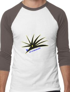Bluetooth bug vector with text Men's Baseball ¾ T-Shirt