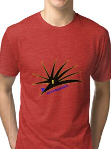 Bluetooth bug vector with text Tri-blend T-Shirt