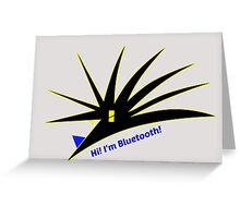 Bluetooth bug vector with text Greeting Card