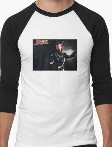 Kamen Rider Black Fight Men's Baseball ¾ T-Shirt