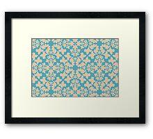 Vintage wallpaper pattern. Abstract floral ornament. Framed Print