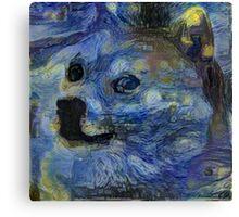 Starry Doge Canvas Print