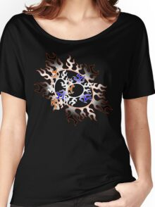Orange & Blue Fire Women's Relaxed Fit T-Shirt