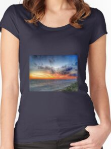 Sunset HDR Carlsbad Women's Fitted Scoop T-Shirt