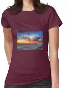 Sunset HDR Carlsbad Womens Fitted T-Shirt