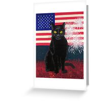 Red White Boo Greeting Card