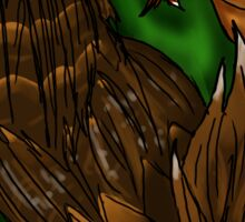 Green and Copper Dragon Sticker