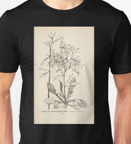 Southern wild flowers and trees together with shrubs vines Alice Lounsberry 1901 064 Wichaux's Saxifrage Unisex T-Shirt