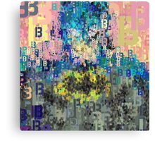 Superheros Type Font Series - Abstract Bat Pop Art Comic Canvas Print