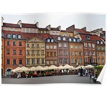 Old Town Market Square Warsaw Poland Poster