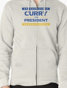 Curry for President Zipped Hoodie